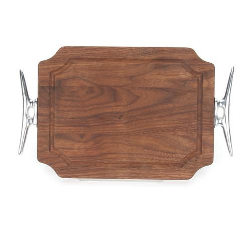 """Selwood 9"""" x 12"""" Cutting Board - Walnut (w/ Cleat Handles)"""