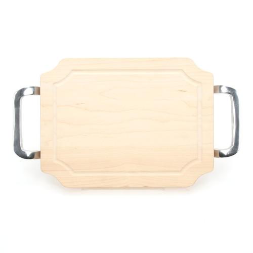 """Selwood 9"""" x 12"""" Cutting Board - Maple (w/ Polished Handles)"""