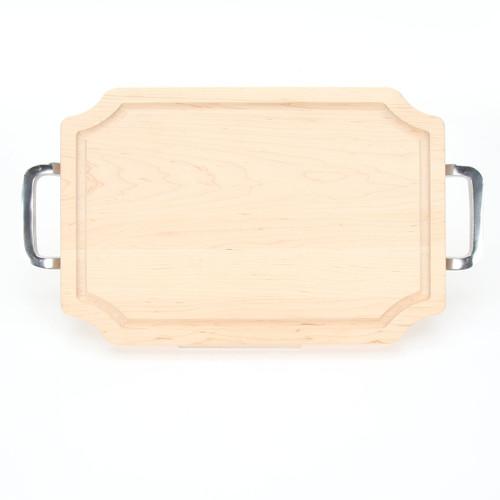 """Selwood 12"""" x 18"""" Cutting Board - Maple (w/ Polished Handles)"""
