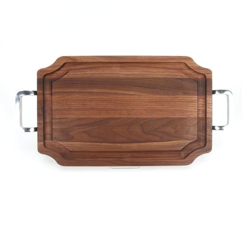 """Selwood 15"""" x 24"""" Cutting Board - Walnut (w/ Polished Handles)"""