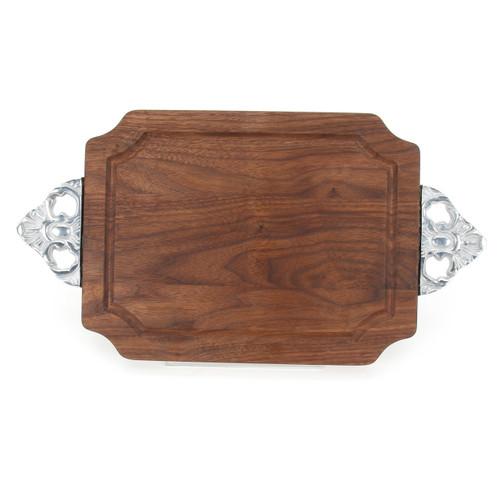 "Selwood 9"" x 12"" Cutting Board - Walnut (w/ Scalloped Handles)"