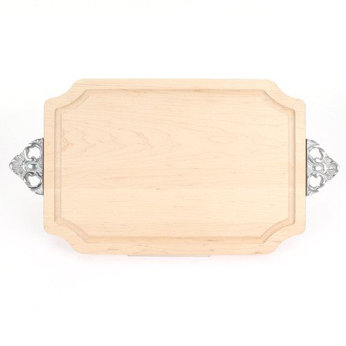 "Selwood 12"" x 18"" Cutting Board - Maple (w/ Scalloped Handles)"