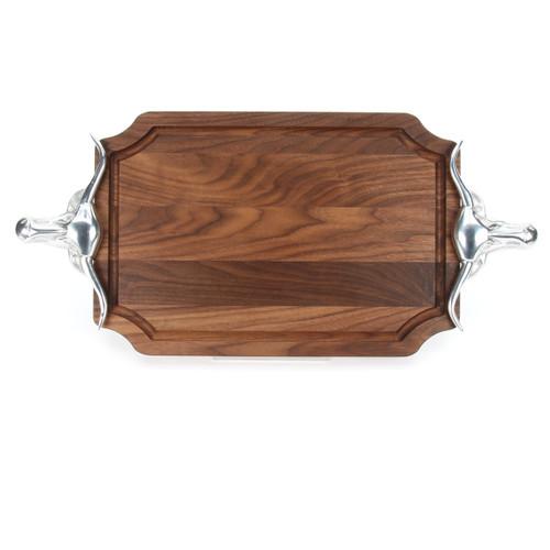 """Selwood 12"""" x 18"""" Cutting Board - Walnut (w/ Long Horn Handles)"""