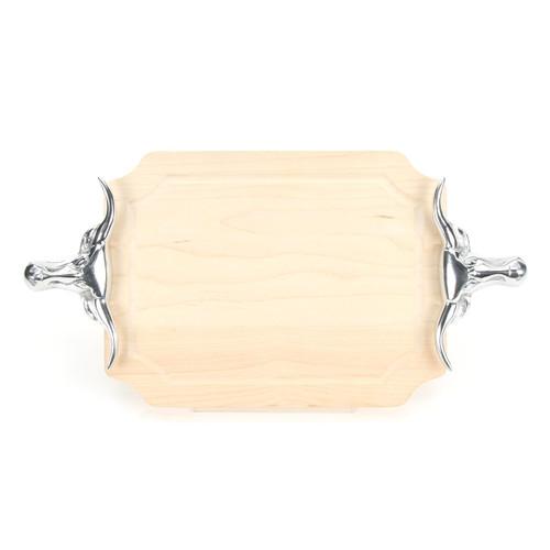 "Selwood 9"" x 12"" Cutting Board - Maple (w/ Long Horn Handles)"