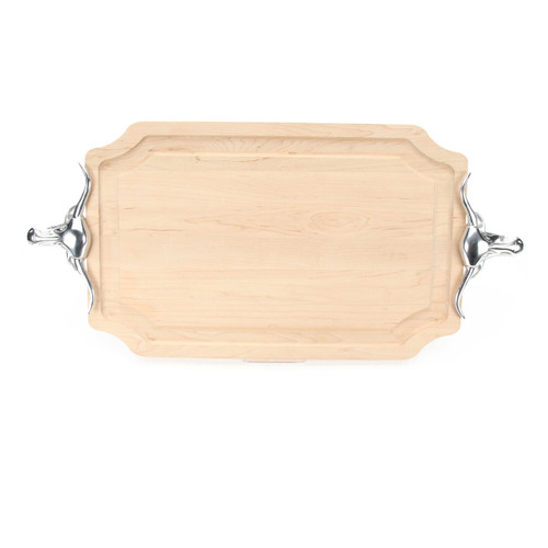 "Selwood 15"" x 24"" Cutting Board - Maple (w/ Long Horn Handles)"