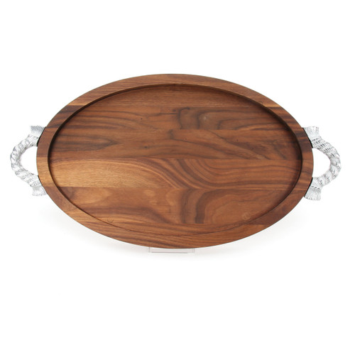 "Grandbois Trencher 15"" x 24"" Cutting Board - Walnut (w/ Rope Handles)"