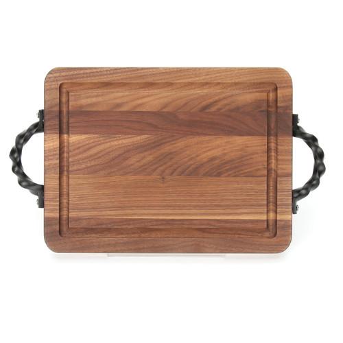 """Wiltshire 9"""" x 12"""" Cutting Board - Walnut (w/ Twisted Handles)"""