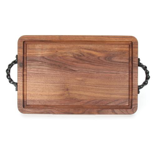"""Wiltshire 10"""" x 16"""" Cutting Board - Walnut (w/ Twisted Handles)"""