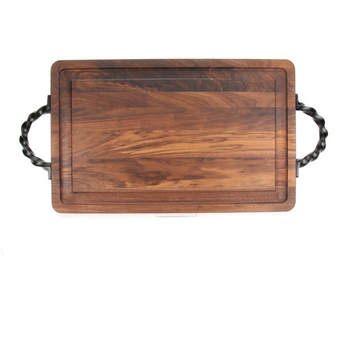 """Wiltshire 15"""" x 24"""" Cutting Board - Walnut (w/ Twisted Handles)"""