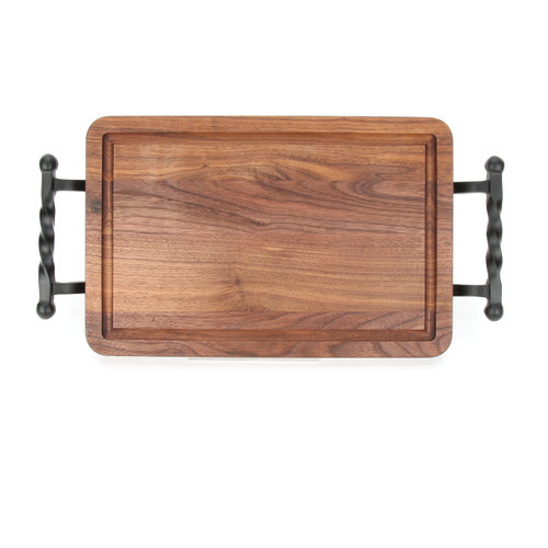 "Wiltshire 10"" x 16"" Cutting Board - Walnut (w/ Twisted Ball Handles)"