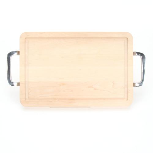 """Wiltshire 10"""" x 16"""" Cutting Board - Maple (w/ Polished Handles)"""