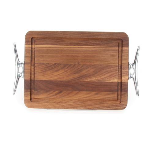 """Wiltshire 9"""" x 12"""" Cutting Board - Walnut (w/ Cleat Handles)"""