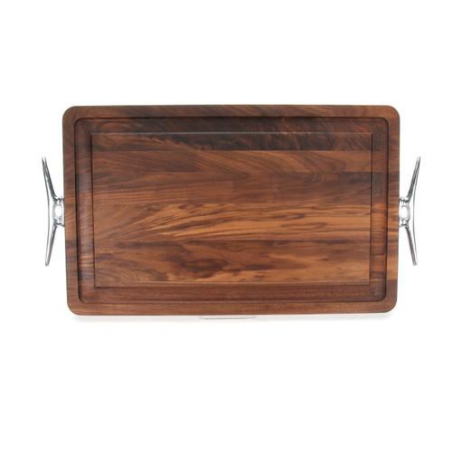 """Wiltshire 15"""" x 24"""" Cutting Board - Walnut (w/ Cleat Handles)"""