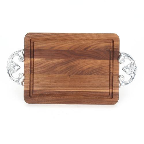 """Wiltshire 9"""" x 12"""" Cutting Board - Walnut (w/ Classic Handles)"""