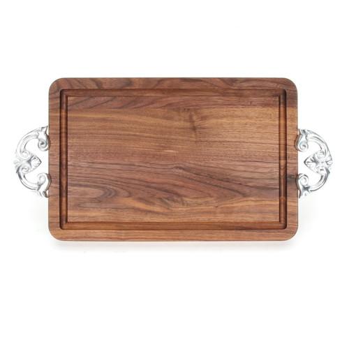 """Wiltshire 10"""" x 16"""" Cutting Board - Walnut (w/ Classic Handles)"""