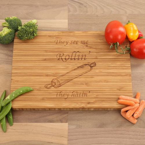 They See Me Rollin' They Hatin' - Bamboo Cutting Board
