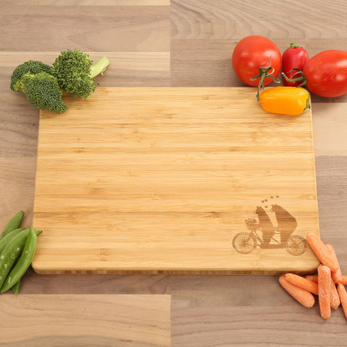 Bears on Bicycle - Bamboo Cutting Board