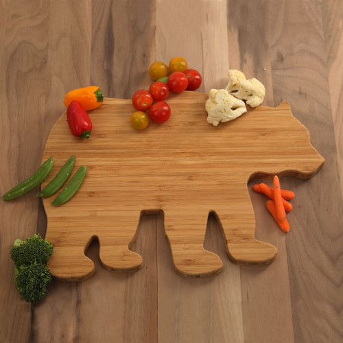 Bear Shaped Bamboo Cutting Board