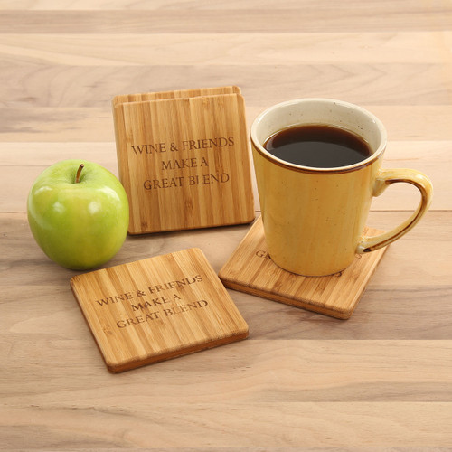 Wine & Friends Coaster Set