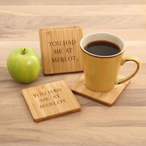 You Had Me At Merlot Coaster Set