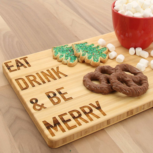 Eat Drink & Be Merry Bamboo Cutting Board