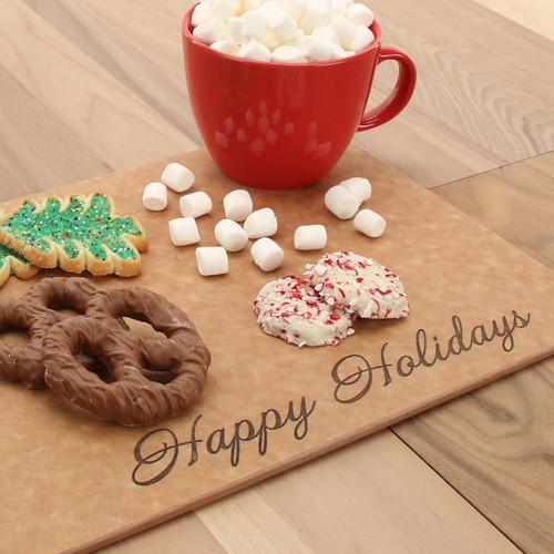 Happy Holidays Richlite Serving Board
