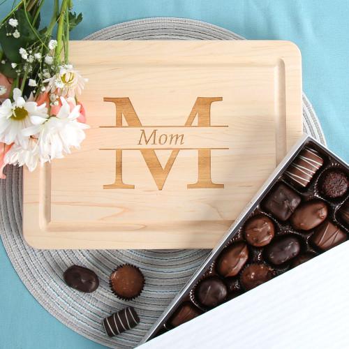 Mom Monogram Cutting Board