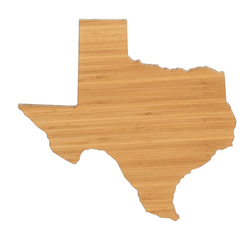 Texas State Shaped Bamboo Cutting Boards