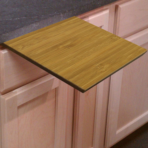 "1/2"" Amber Bamboo Under Counter Cutting Board"