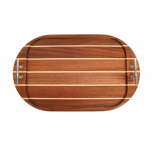 Large Oval Sapele Serving Tray