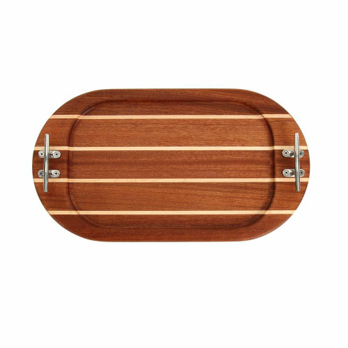 Medium Oval Sapele Serving Tray