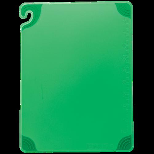 "San Jamar GREEN Saf-T-Grip Cutting Board 12"" x 18"" x 1/2"""