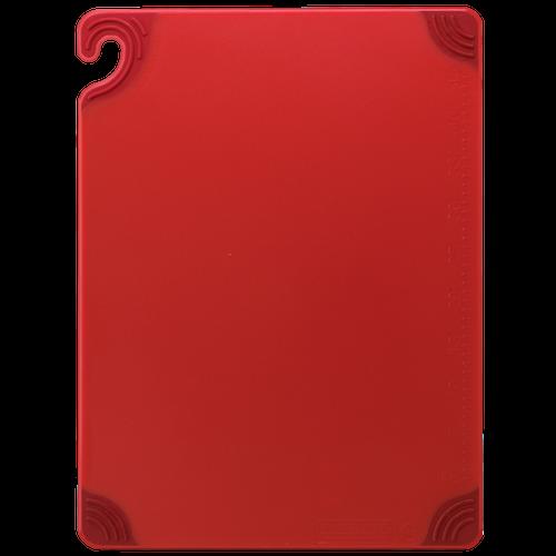 """San Jamar RED Saf-T-Grip Cutting Board 12"""" x 18"""" x 1/2"""""""