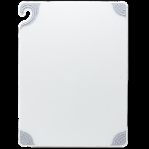 "San Jamar WHITE Saf-T-Grip Cutting Board 15"" x 20"" x 1/2"""