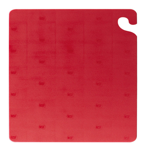 "San Jamar RED Cut-N-Carry Cutting Board 15"" x 20"" x 1/2"""