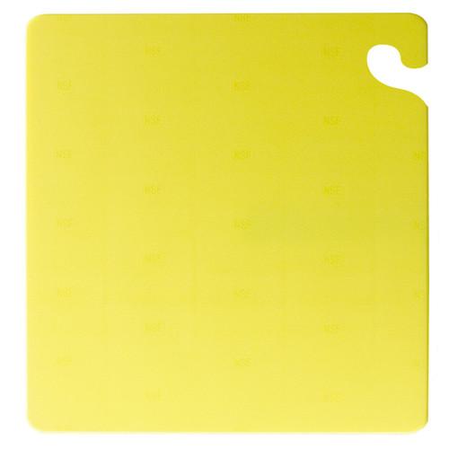 "San Jamar YELLOW Cut-N-Carry Cutting Board 12"" x 18"" x 1/2"""