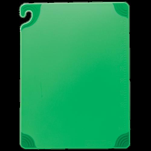 "San Jamar GREEN Saf-T-Grip Cutting Board 15"" x 20"" x 1/2"""