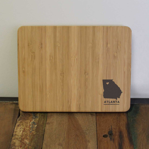 City and State Custom Engraved Cutting Board