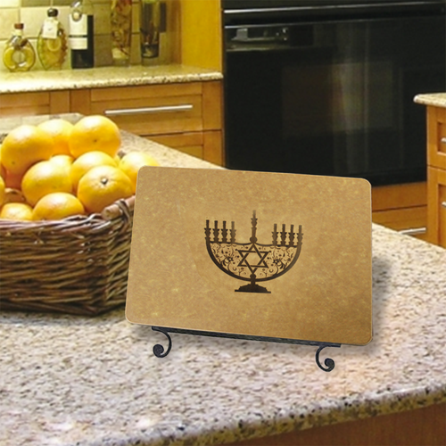 Menorah Engraved Cutting Board