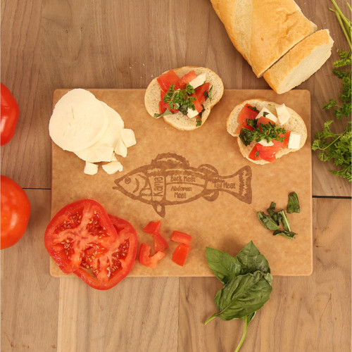 Fish Cuts Engraved Cutting Board
