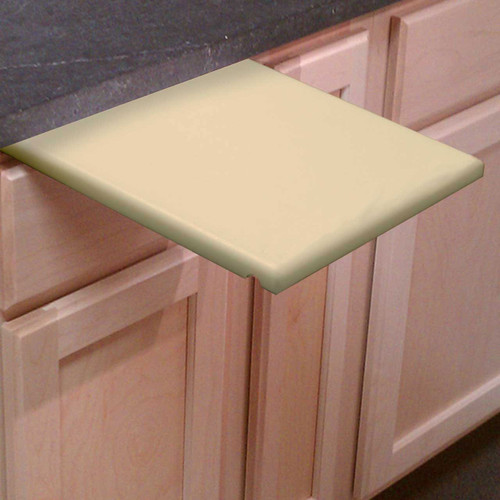 "1/2"" Tan Poly Pull Out Cutting Board"
