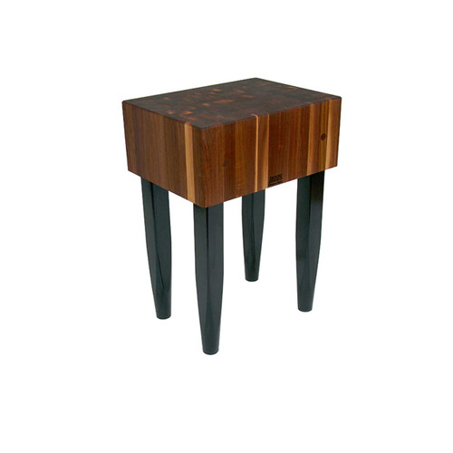 "John Boos 24""x18""x10"" Walnut Block with Black Legs"