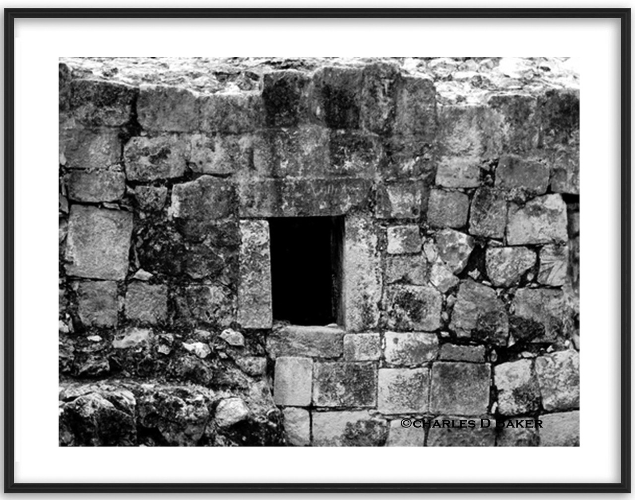 Mayan ruins at chichen itsa 6 framed black and white photo