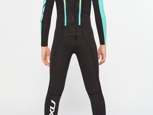 2XU - Propel Youth Wetsuit - Black/Oasis - Full Season Hire