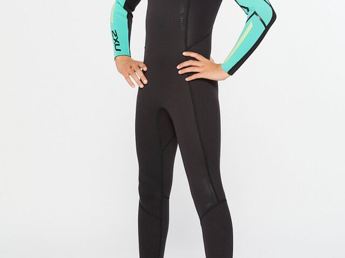 2XU - Propel Youth Wetsuit - Black/Oasis - 60 Day Hire