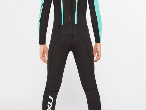 2XU - Propel Youth Wetsuit - Black/Oasis - 28 Day Hire