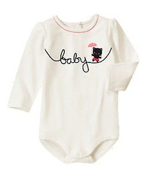 "Gymboree ""Baby"" Long Sleeve Bodysuit"