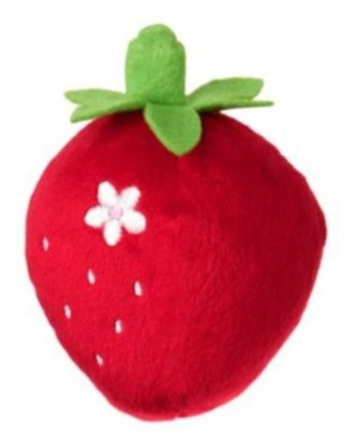 Strawberry Plush Baby Rattle