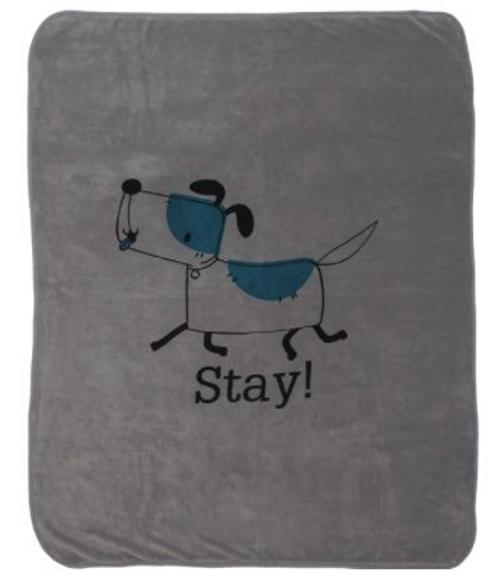 "Bean Stay Blanket Charcoal Super soft polar fleece Approximately 50"" x 60"""
