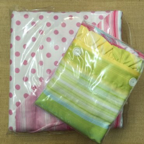 Delia's Duvet Cover and Pillow Sham Set Rainbow Bright